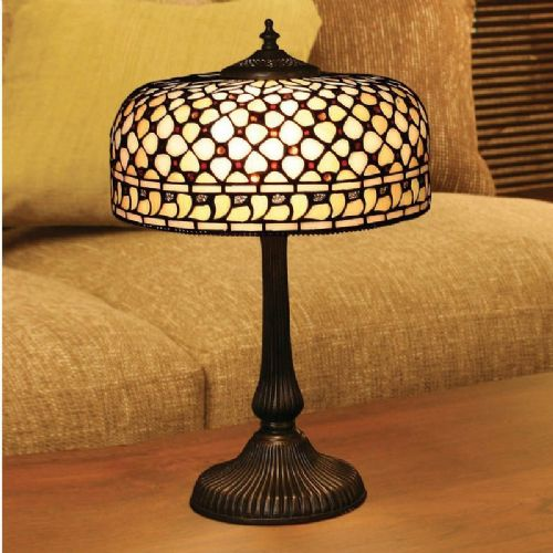 Mille Feux Medium Table Lamp (Traditional, Medium Table Lamp) TO21T (Tiffany style)